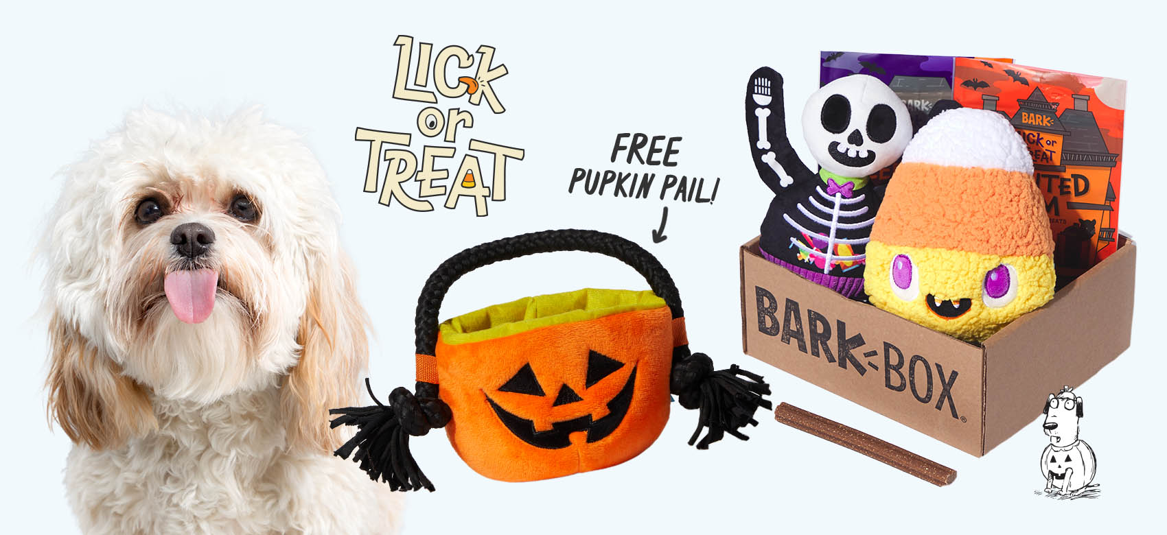 BarkBox, a monthly box of dog goodies starting at $22 per month