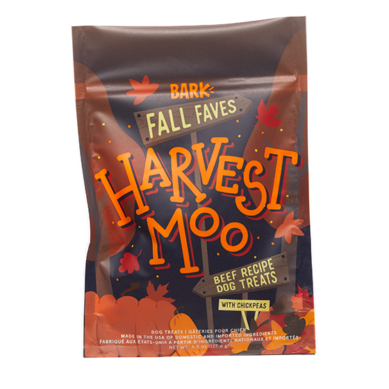 Photograph of BarkBox's Harvest Moo product