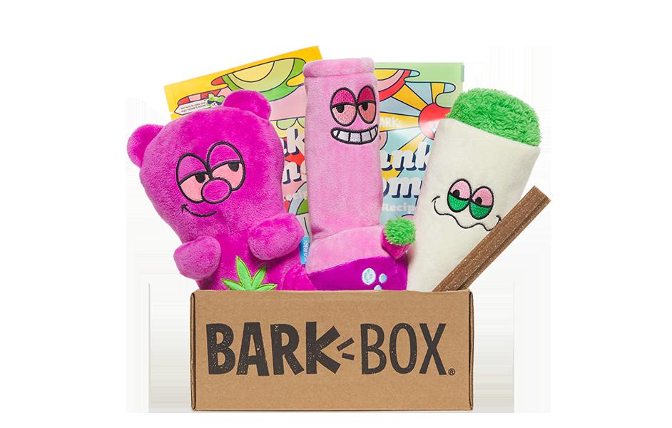Bud Hounds themed BarkBox