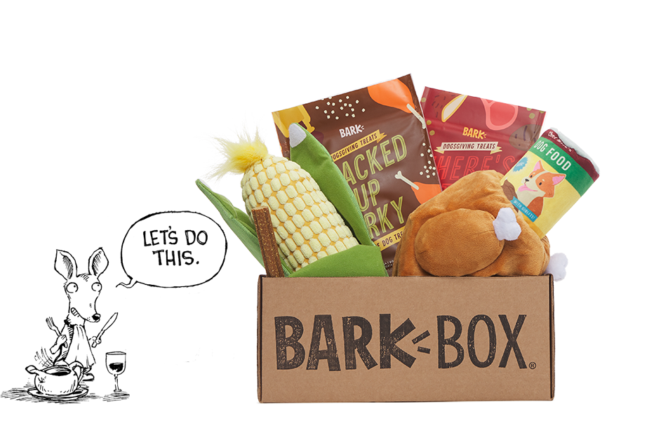 Dogsgiving themed BarkBox