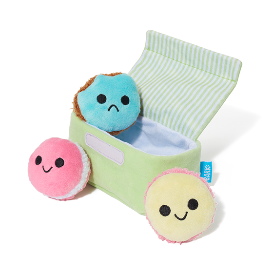 Photograph of BarkBox's Wee Wee Macaron product