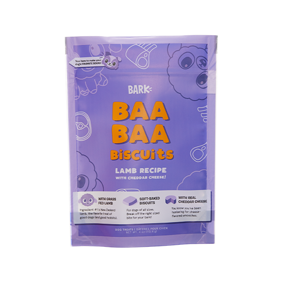 Photograph of BarkBox's Baa Baa Biscuits product