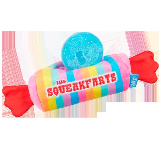 Photograph of BarkBox's Squeakfarts product