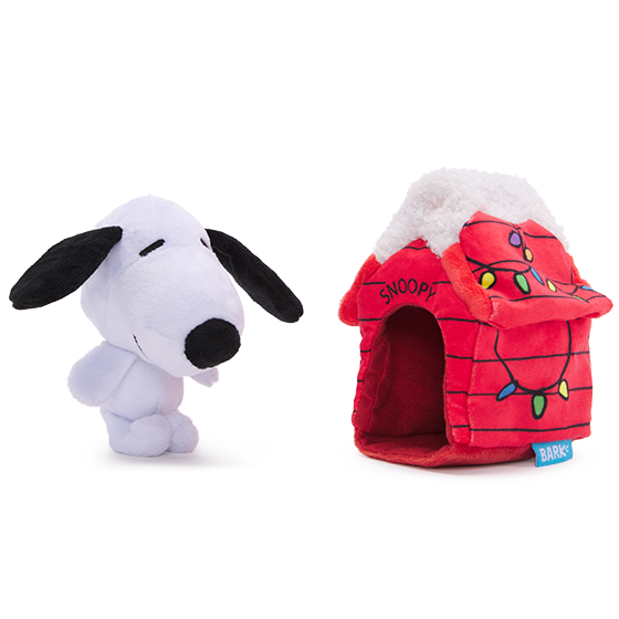 Photograph of BarkBox's Doghouse Snoopy product