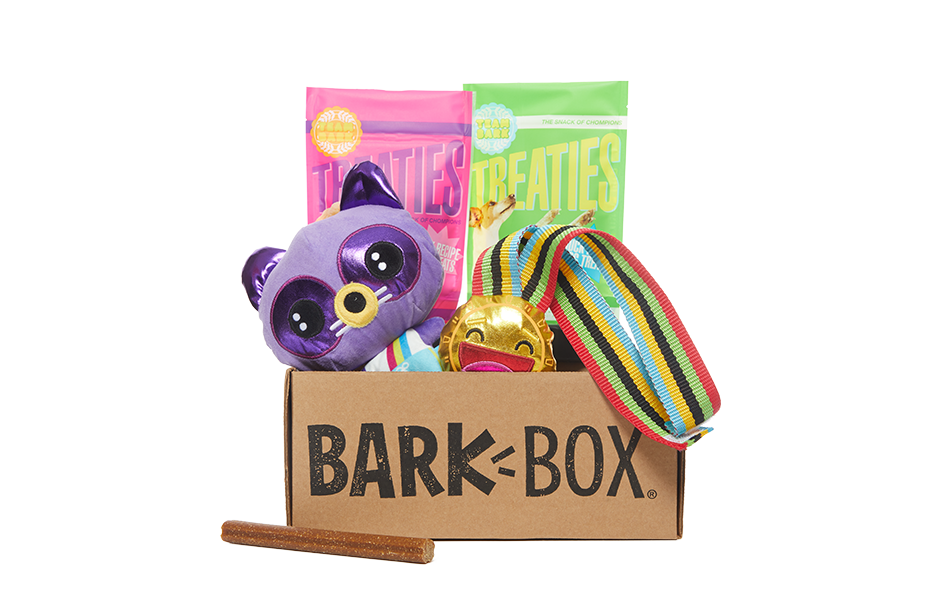 Podium Pups themed BarkBox