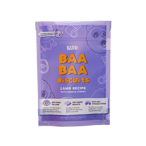 Photograph of BarkBox's Baa Baa Biscuits product
