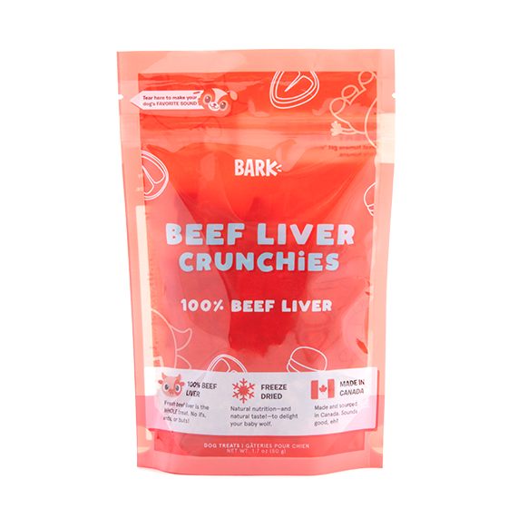 Photograph of BarkBox's Beef Liver Crunchies product
