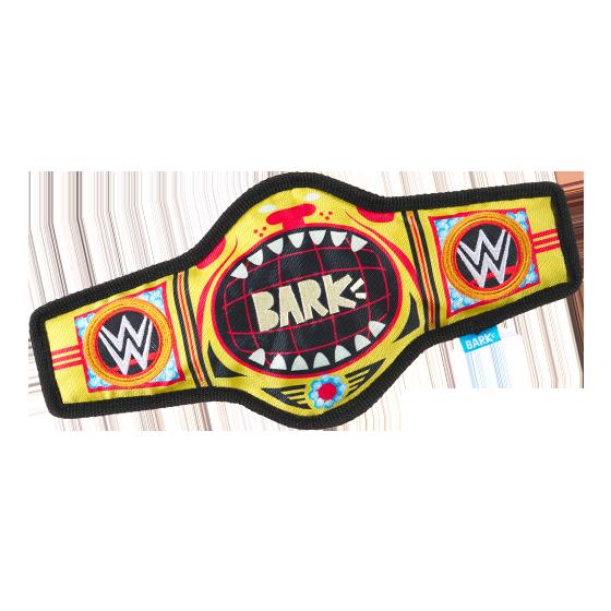 Photograph of BarkBox's Thrash n' Bash Title Belt product