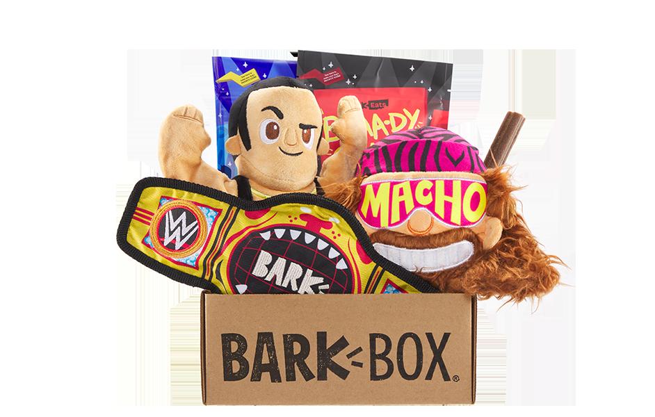 WWE themed BarkBox